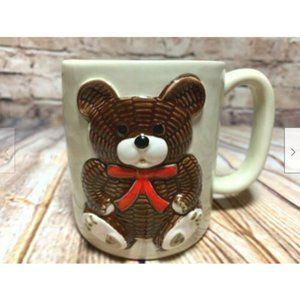 Otagiri Teddy Bear Coffee Mug 3D & Embossed 14 oz